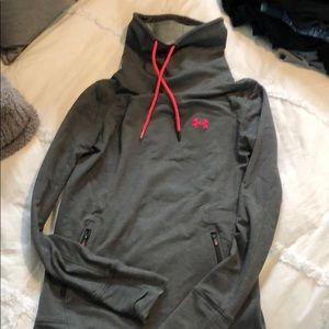 Under armor woman's xs funnel neck sweatshirt